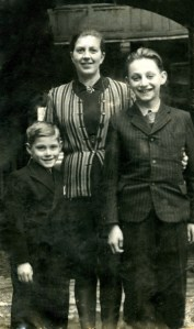 Tomi with his mother, Judith and his older  brother Miki in Bratislava in 1941.