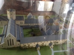A model of the original monastic site - the church section is what was rebuilt c. 1813
