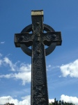One of the many very ornate crosses with Celtic knotwork in the abbey graveyard